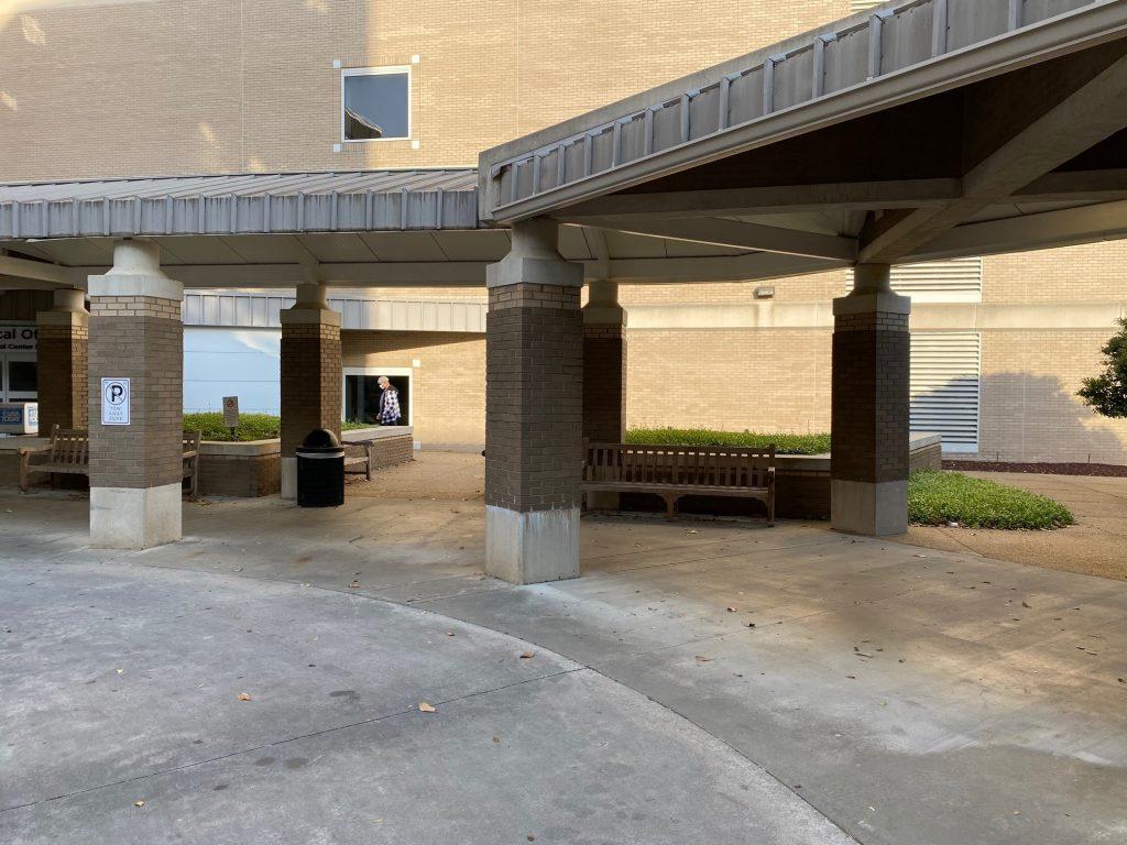 Outside MOB before
